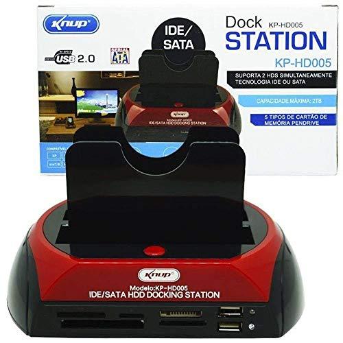 Dock Station Case Para 2 HD Sata 2.5 E 3.5 Usb com Leitor de Cartão Universal