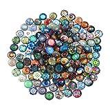 Heallily - Cabochon a cupola in vetro con retro piatto a mosaico, 100 pezzi, per lavori fai da te e creazione di gioielli, 10 mm