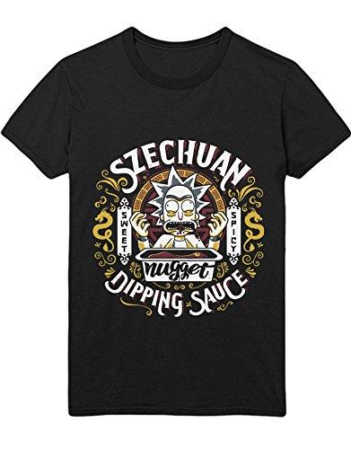 T-Shirt Rick Szechuan Dipping Sauce C000035 Schwarz M