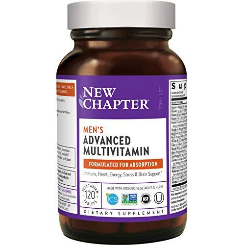 New Chapter Men's Multivitamin, Every Man, Fermented with Probiotics + Selenium + B Vitamins + Vitamin D3 + Organic Non-GMO Ingredients - 120 ct