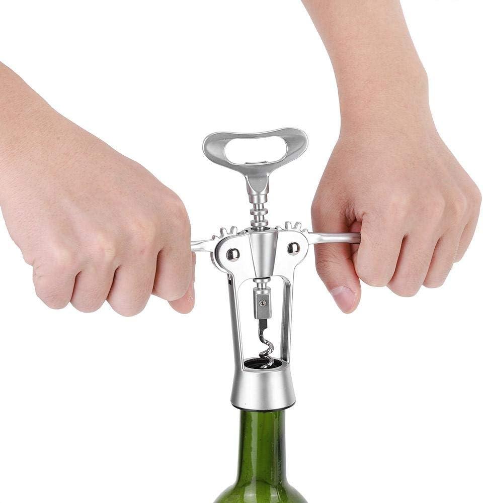 Sacacorchos de ala multifunción, abridor de botellas de cerveza de vino Aleación de zinc a prueba de agua Abridor de botellas de cerveza de vino tinto Extractor de tiradores de corcho Hogar Cocina Cha