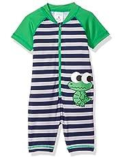 KIKO & MAX baby-boys Full Body Rash Guard Swim Suit Coverall Rash Guard Shirt
