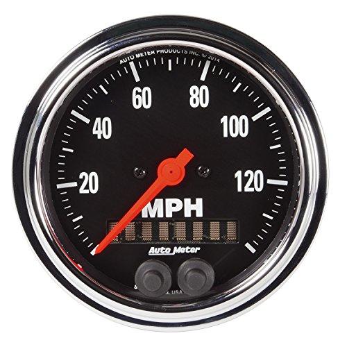 Auto Meter 2480tradicional cromado 3–3/8'GPS velocímetro (0–140Km/h)