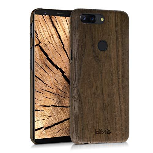 Preisvergleich Produktbild kalibri Hülle kompatibel mit OnePlus 5T - Handy Holz Schutzhülle - Slim Case Handyhülle Braun