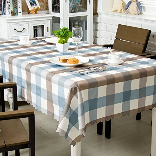 """OstepDecor Premium Waterproof Tablecloth 100% Polyester Banquet Wedding Party Picnic Table Cover - Rectangle/Oblong, 60"""" x 104"""""""