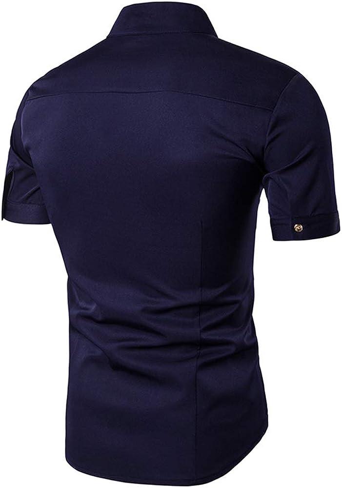 QPNGRP Men's Short Cash special price New mail order Shirt Buttons Sleeve