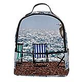 ATOMO Casual Mini Mochila Playa tumbonas Sea Mew Cuero PU Viaje Bolsas de Compras Daypacks