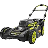 RYOBI 20 in. 40-Volt Brushless Lithium-Ion Cordless Smart Trek Self-Propelled Walk Behind Mower w/6.0 Ah Battery and Charger