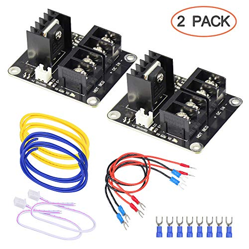 3D Printer Heat Bed Power Module SIMPZIA General Add-on Hot Bed Mosfet MOS Tube High Current Load Module for 3D Printer Hot Bed/Hot End(2 Pack)