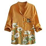 Women's Short Sleeve Cotton Shirts Colorful Giraffe...