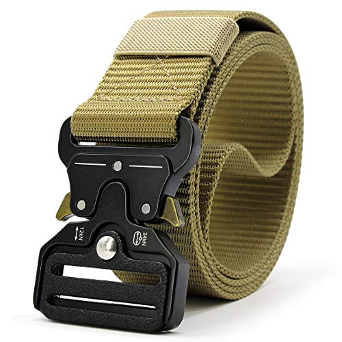 "Doopai Tactical Belt,Military Style Quick Release Metal Buckle Belt,1.5"" Heavy-Duty Nylon Riggers Belts for Men…"