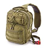 Small Tactical Shoulder Sling Pack w/Molle EDC (Black)