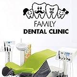 Adhesivo de pared para clínica Dental, adhesivo artístico para pared, decoración de vinilo, cuidado Dental, decoración de dientes para el hogar, papel tapiz de dientes