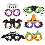 KATOOM Gafas Marcos Halloween 6PCS Anteojos Disfraces de Halloween para Fiestas Novedad, Divertido,...