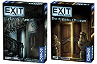 Thames & Kosmos Exit 2 Game Bundle: The Sinister Mansion and The Mysterious Museum