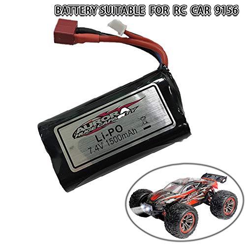 GoStock GoStockFunkfernsteuerung Auto Batterie für 9156, Li-Ionen-Batterie für ferngesteuertes Auto, wiederaufladbare Ersatz-Li-Ionen-Batterie, 7,4 V 1500 mAh für 9156 RC Auto