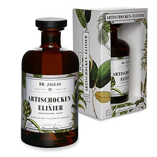 Dr. Jaglas Artischocken-Elixier | Kräuter-Digestif als Einzelflasche mit 0,5L| 35% Vol