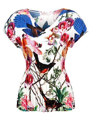 Alba Moda Damen Blusenshirt Weiß 44 Kunstfaser