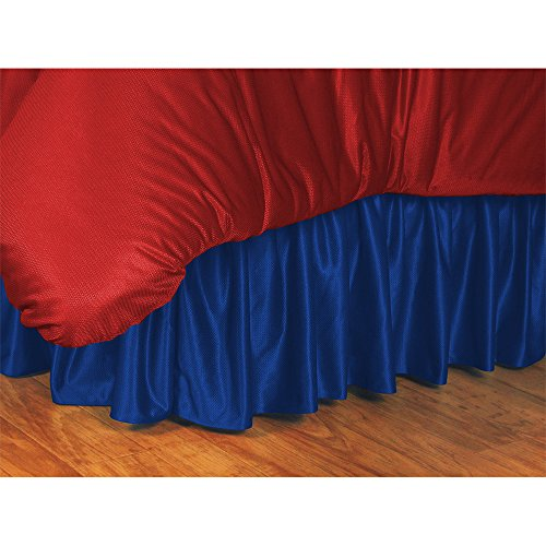 NHL Edmonton Oilers Bed Skirt, Twin, Bright Blue