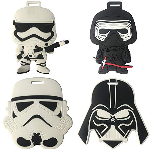 Star Wars Travel Luggage Tag for Bags with Adjustable Strap - Set of 4