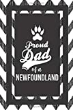 Proud Dad Of A Newfoundland: Pet Dad Gifts For Fathers Journal Lined Notebook To Write In