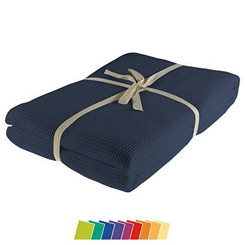 Sport-Tec Pique-Decke mit Zierstich-Einfassung, 210x150 cm
