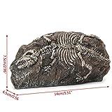 Pet Online Decoración del acuario El acuario de puente de resina fósil de dinosaurio DECORACIÓN Decoración de Acuario, 14 * 6.5 * 7.5cm