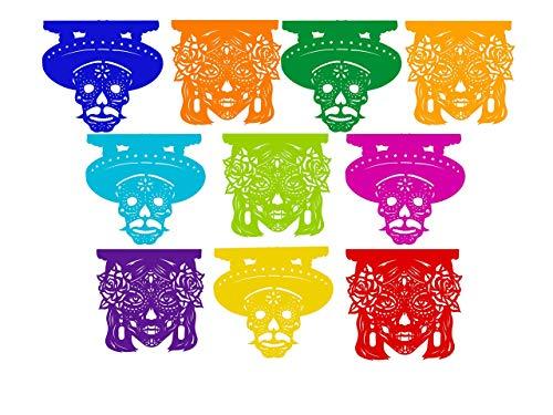 Decoración día de muertos, papel picado tradicional Mexicano, para ofrendas y altares.