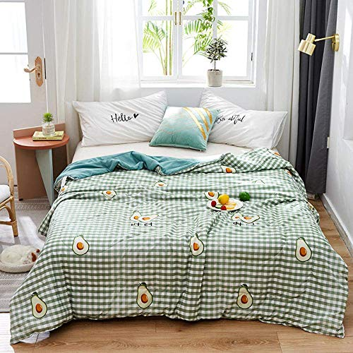 XYSQWZ Summer Easy Care Duvet Cover Quilt Bedding Set Double (Queen,200 * 230CM),Summer Air Conditioning Blanket for Bed Lightweight,quilt Home Decor Bedding Cover