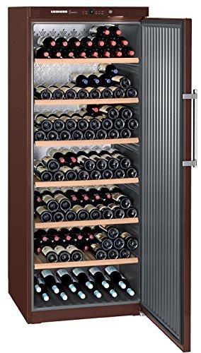 Liebherr WKT 6451 Independiente Marrón 312botella(s) A+ - Enfriador de vino (Independiente, Marrón, Acero inoxidable, 7 estanterías, 1 puerta(s), Marrón)