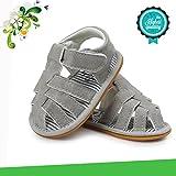 Zapatos de Bebé, Morbuy Unisexo Zapatos Bebe Primeros Pasos Verano Recién nacido 0-18 Mes Bebé Casual Verano Zapatos Suela Blanda Zapatillas Antideslizante Sandalias (12cm / 6-12meses, Gris claro)