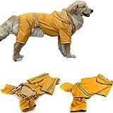 Chubasquero para perros y cachorros, impermeable para perros medianos y medianos, chaqueta impermeable con solapa - lluvia - boy - poncho de lluvia para golden retriever, labrador retriever, schnauzer