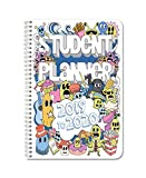 """BookFactory 2019-2020 Doodle Student Planner/Agenda/Organizer/Calendar (134 Pages) - 6"""" X 9"""" Wire-O..."""