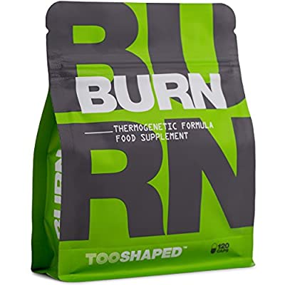 BURN – Fat burner with L-Carnitine, green tea, etc. (highly-dosed). For athletes to support fat burning (dietary) – 120 capsules from TOOSHAPED by TOOSHAPED