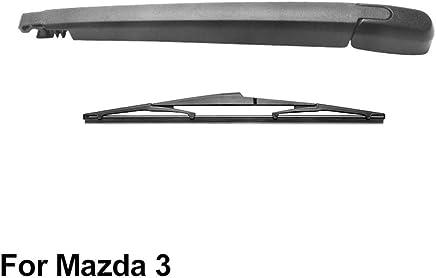 SLONGK Brazo del Limpiaparabrisas Trasero Y Escobilla del Limpiaparabrisas Trasero para Mazda 3 2003-2008