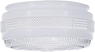8-Inch Replacement Drum Glass Shade -7-7/8-Inch Fitter Opening
