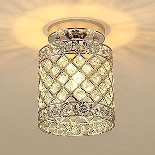 Lámpara de techo empotrada de cristal Instalación Lámpara de techo de araña de cristal, usado en corredores, bares, cocinas, restaurantes, habitaciones para niños