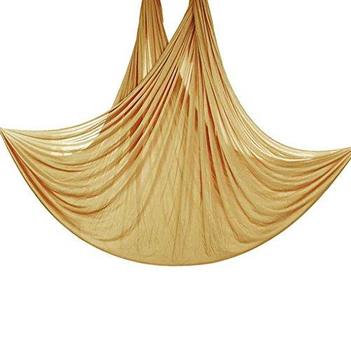 Bobury 5 m de Long 2,8M Largeur aérienne Volant Anti-Gravity Yoga Gym Hamac Pilates Musculation Fitness Swing Ceinture