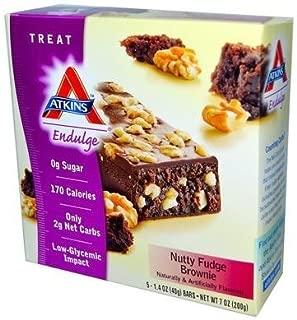 Atkins Endulge Treat Nutty Fudge Brownie, 5 Count (Pack of 6)