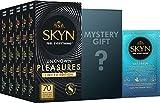 SKYN Unknown Pleasures Edition Deluxe Preservatifs Sans Latex - Paquet de 70 + Cadeau Mystère Gratuit