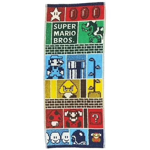 Marushin Super Mario Colorful Dungeon Face Towel