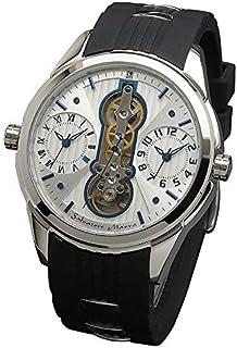 [サルバトーレマーラ] アナログウォッチ デュアルタイム メンズ ホワイト 腕時計 ラバーベルト 時計クロス付き WHBL [並行輸入品]