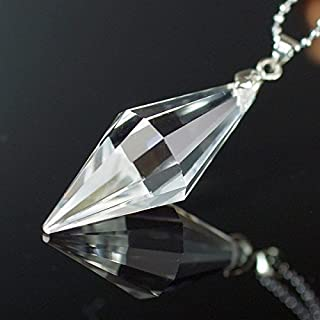 LuLuHouse 水晶 ペンダント 水晶 ペンデュラム Pendant 水晶ネックレス クリスタル 天然石 パワーストーン a4192
