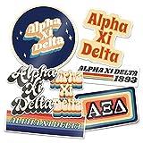Alpha Xi Delta 70's Themed Sticker Sheet Decal Laptop Water Bottle Car (70's Sheet)
