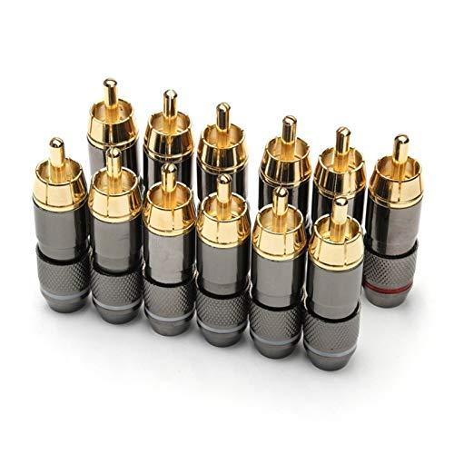 furong 12PCS RCA Banana Plug Monster 24K Gold Plated Copper Banana Plug...