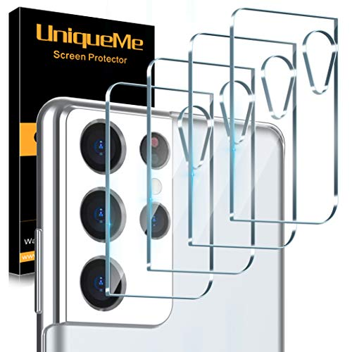 [4 Pack] UniqueMe Camera Lens Protector Compatible for Samsung Galaxy S21 Ultra (6.8 inch) Tempered Glass 9H [Easy Installation] [Case Friendly] [Ultra-Thin] HD [Not Fit for Samsung S21/ S21 Plus]