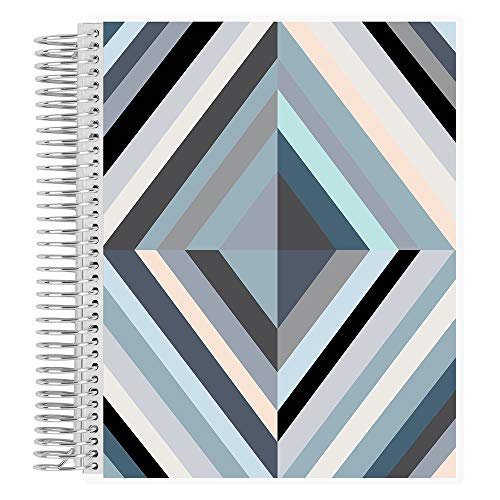 Erin Condren Coiled Notebook (College Ruled Layout) - Oh So Retro Neutral Designer Interchangeable Cover, College Ruled Lined Paper, Measures 8.5' x 11', Boost Productivity, Durable, Pretty, Cute