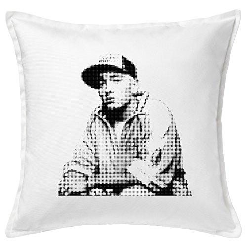 Eminem Funny Coussin/Cushion & Pillow 50x50 cm 20x20 Weiß