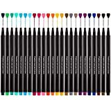 Feutre Pointe Fine, Stylos Fineliner Pens 24 Couleurs de 0,4mm Coloriage Sketch Écriture Dessin Stylos à Bille Pour Croquis, Manga, DIY Scrapbooking, Bullet Journal, Bureau Calligraphie etc