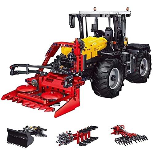 Technik Tractor Campo Trituradora 4 en 1 Kit con mando a distancia y motores, compatible con la tecnología Lego, colección de vehículos pesados – 2716 piezas (como se muestra)